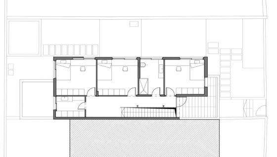 Plano de segundo piso de casa