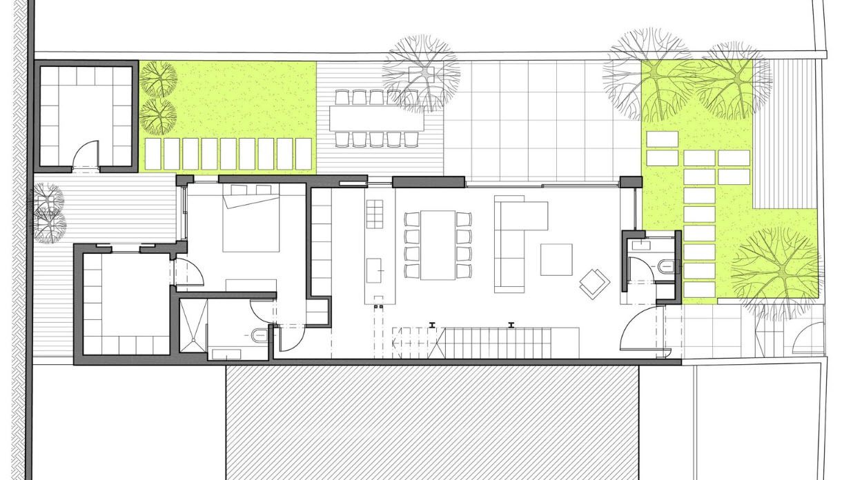 Dise o de casa dos pisos de hormig n construye hogar for Planos de casas minimalistas de 2 pisos