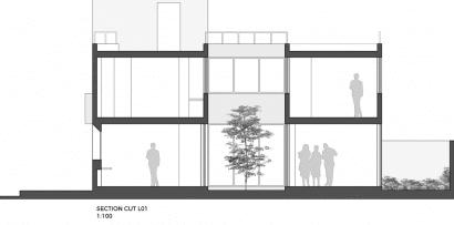 Plano de corte L01 casa dos pisos