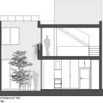 Plano de corte T01 casa dos pisos