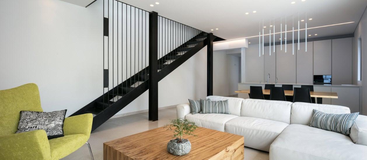 Vista de sala comedor y cocina moderna construye hogar for Planos de cocina sala comedor