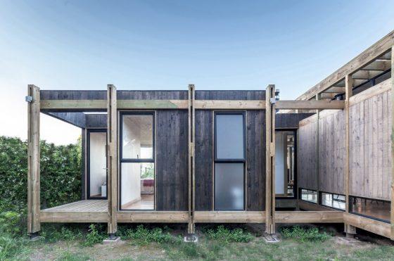 Estructura expuesta casa de madera