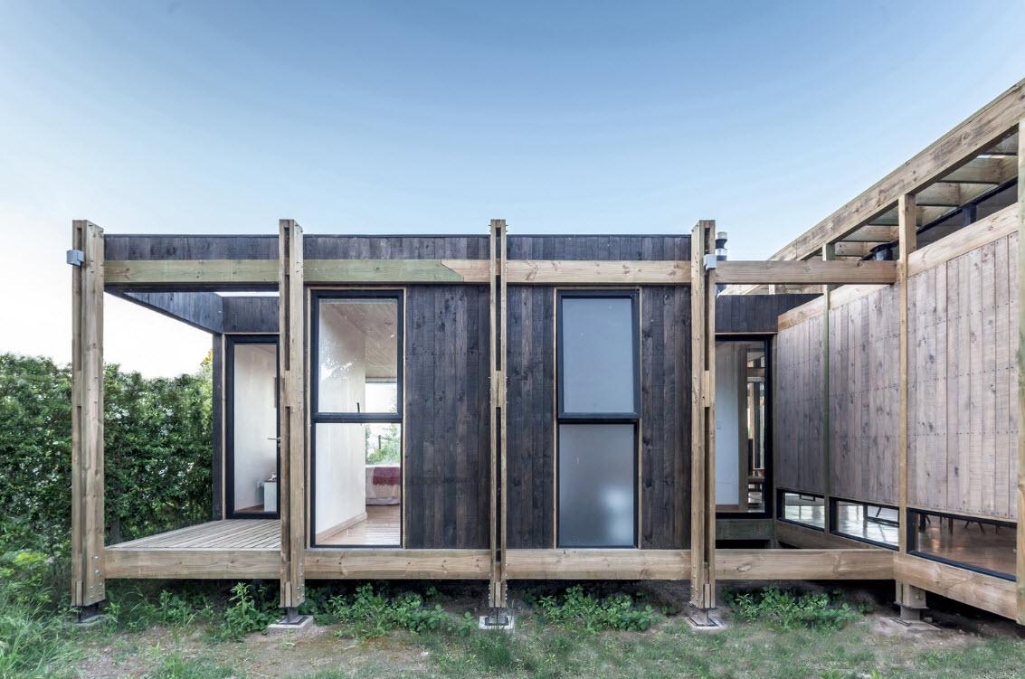 Estructuras de madera fachada casa campo construye hogar - Estructura de madera para casas ...