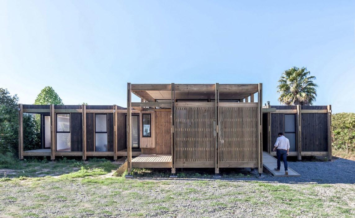 Dise o de peque a casa de campo de madera construye hogar - Casas de campo madera ...
