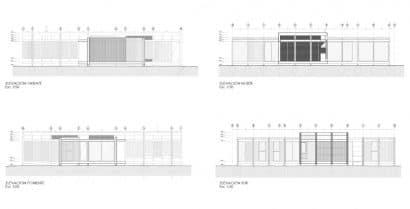 Planos de elevación casa campo