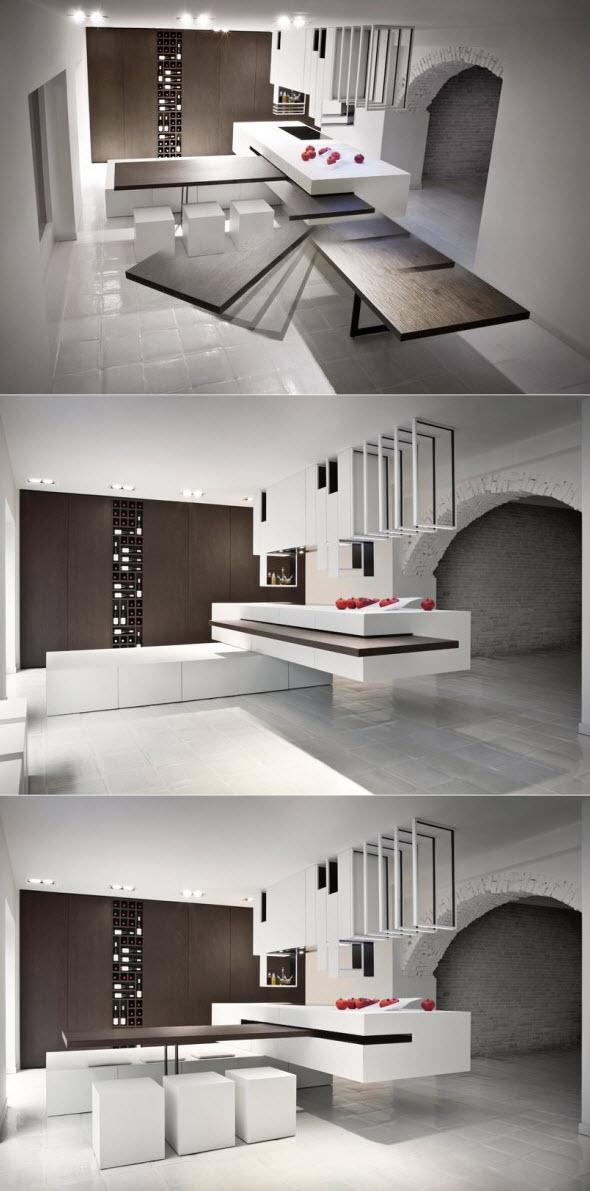 Diseño de muebles de cocina que se transforma