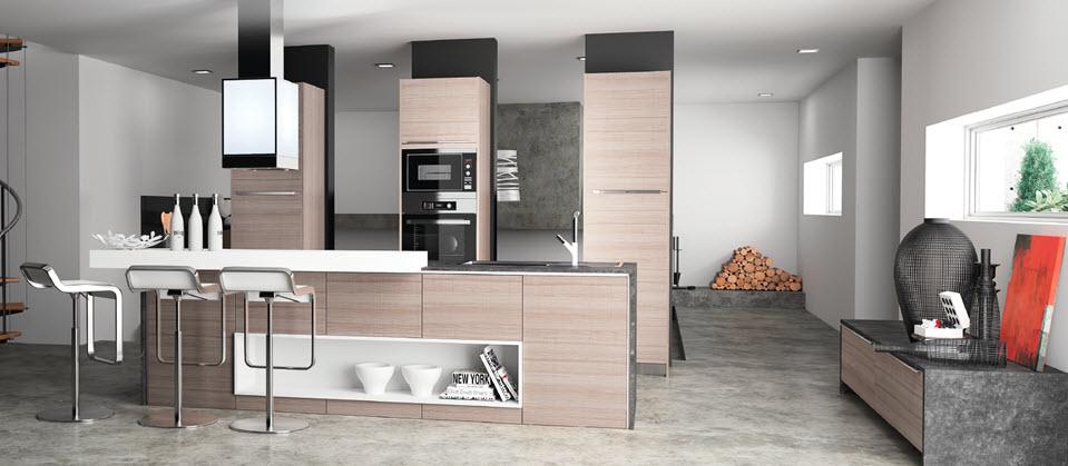 Cocina moderna madera cheap cocina moderna de madera con - Cocina moderna madera ...