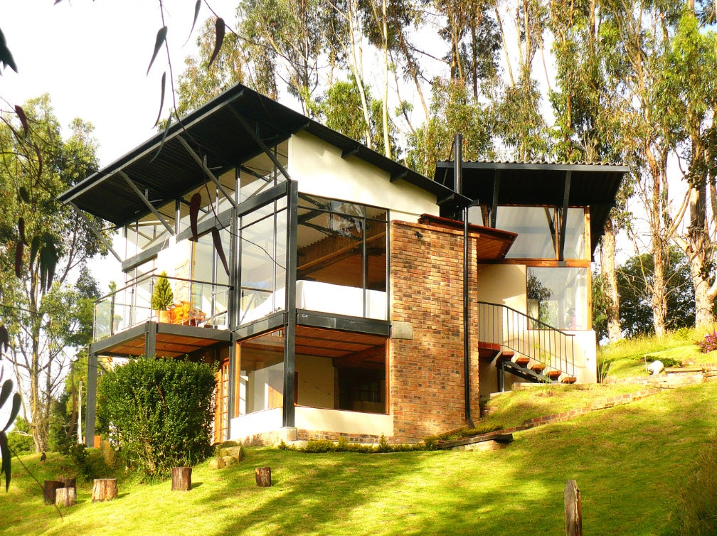 Casa De Campo Moderna De Dos Pisos Planos Construye Hogar