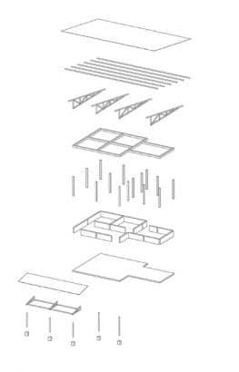 Gráfico estructural casa de campo
