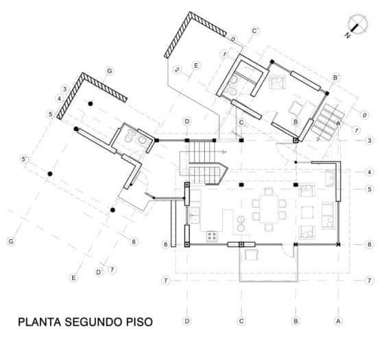 Plano casa de campo dos niveles