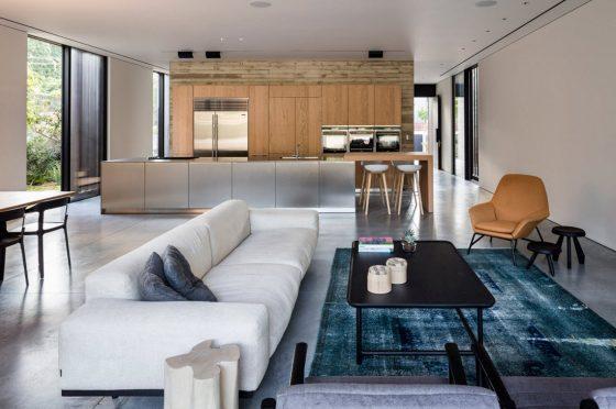 Diseño de sala - comedor y cocina modernos