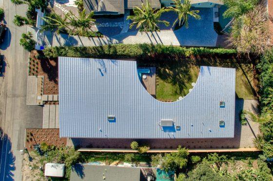 Diseño de techo con corte circular