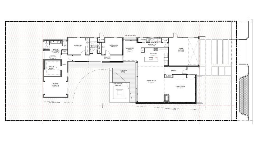 Casa de un piso y tres dormitorios construye hogar for Planos de casas con patio interior