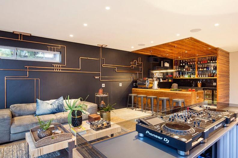 Diseño cuarto de esparcimiento bar