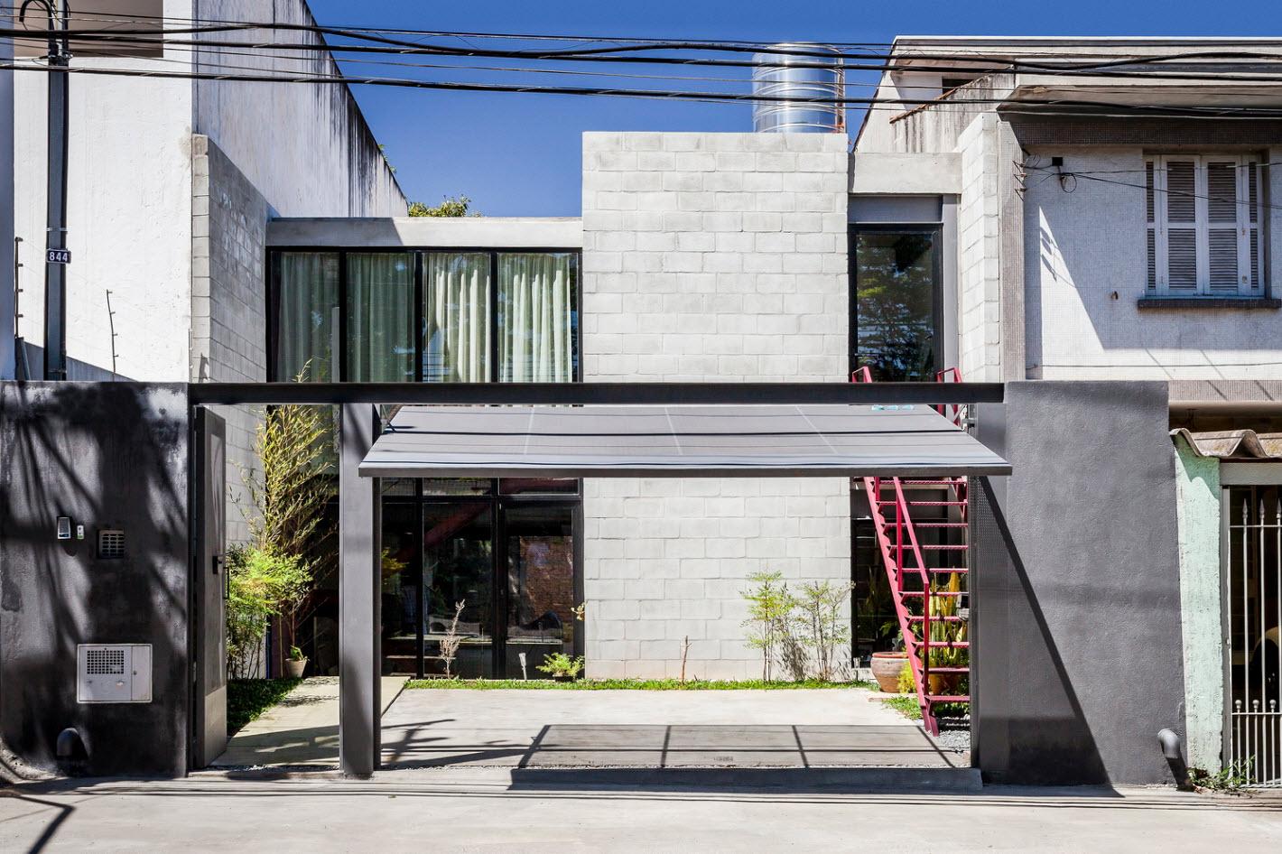 fachada de hormign casa econmica