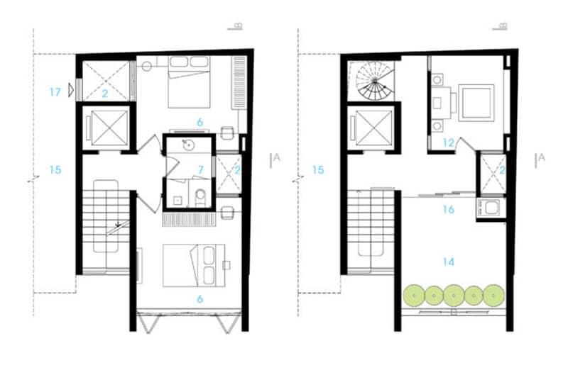 idea de plano construir casa pequeño terreno