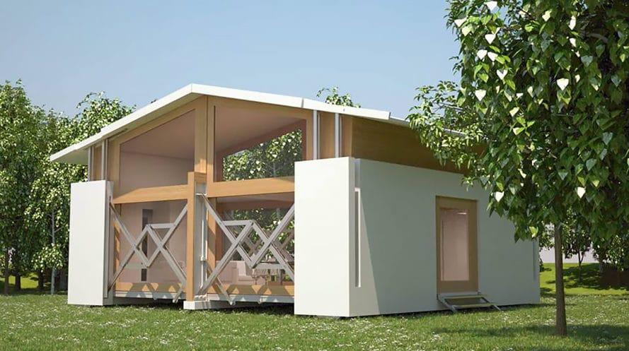 Casa prefabricada pequeña reversible