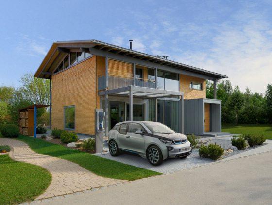 Diseño de casa dos pisos autosustentable
