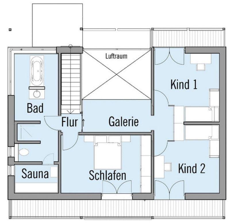 Planos de casa de dos pisos sustentable construye hogar for Plano piso 3 habitaciones
