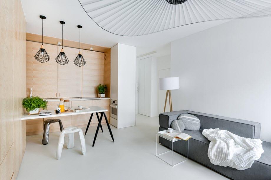 Diseño de interiores minimalista dúplex