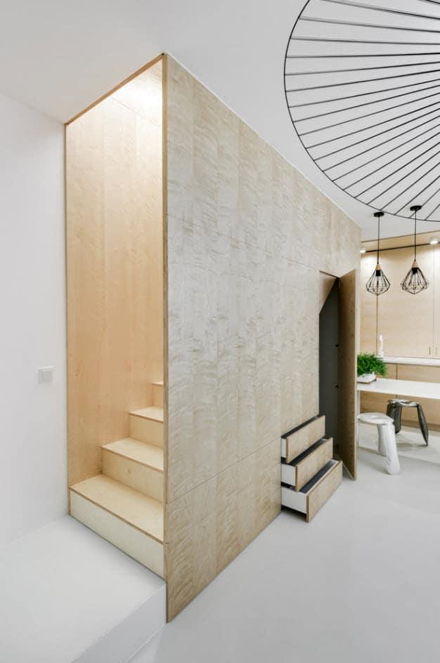Diseño escaleras departamento dúplex