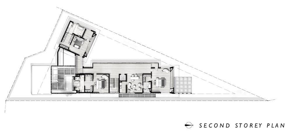 Diseño casa terreno triangular