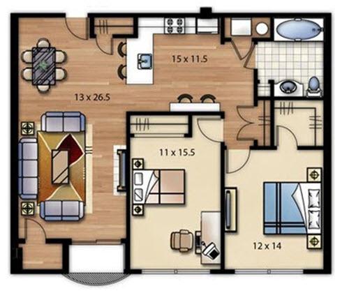 Plano de casa cuadrada modelos construye hogar for Modelos planos de casas para construir