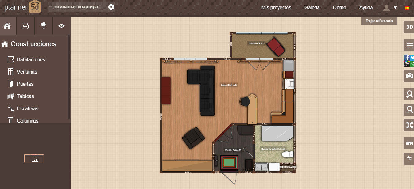 Hacer planos online con planner 5d construye hogar for Hacer casas en 3d online