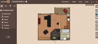 Interfaz de usuario de Planner 5D