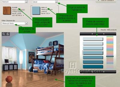 Decoración de interiores de habitaciones