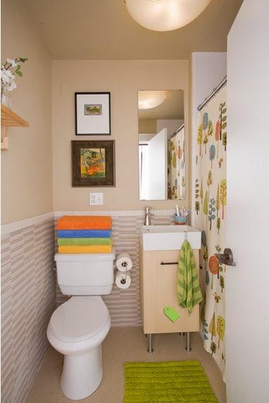 Diseño de baño muy pequeño