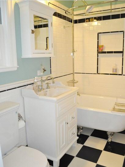 Diseño de un cuarto de baño clásico
