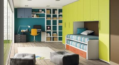 Diseño de dormitorio juvenil completo