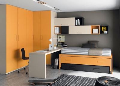 Diseño de habitación modular para jóvenes