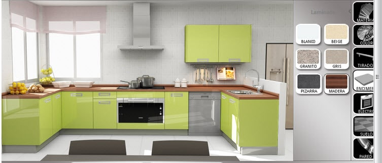 Disear cocina hacer los planos y elegir estilos y colores
