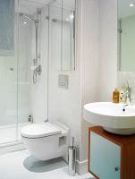 Distribución lineal de un cuarto de baño