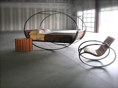 Diseño de cama mecedora