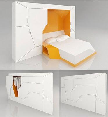 Diseño de dormitorio modular estilo Puzzle