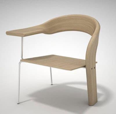 Diseño de silla en madera y metal