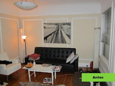 Remodelación de sala de pequeño departamento