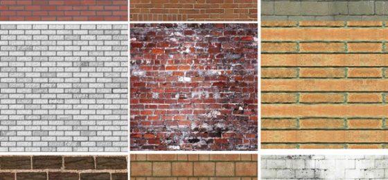 Tipos de ladrillos por color, texturas y formas
