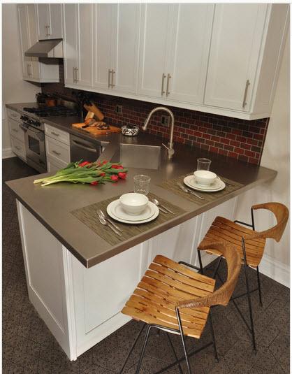 Dise o de cocina peque a con ideas y fotos construye hogar for Cocinas rectangulares pequeñas