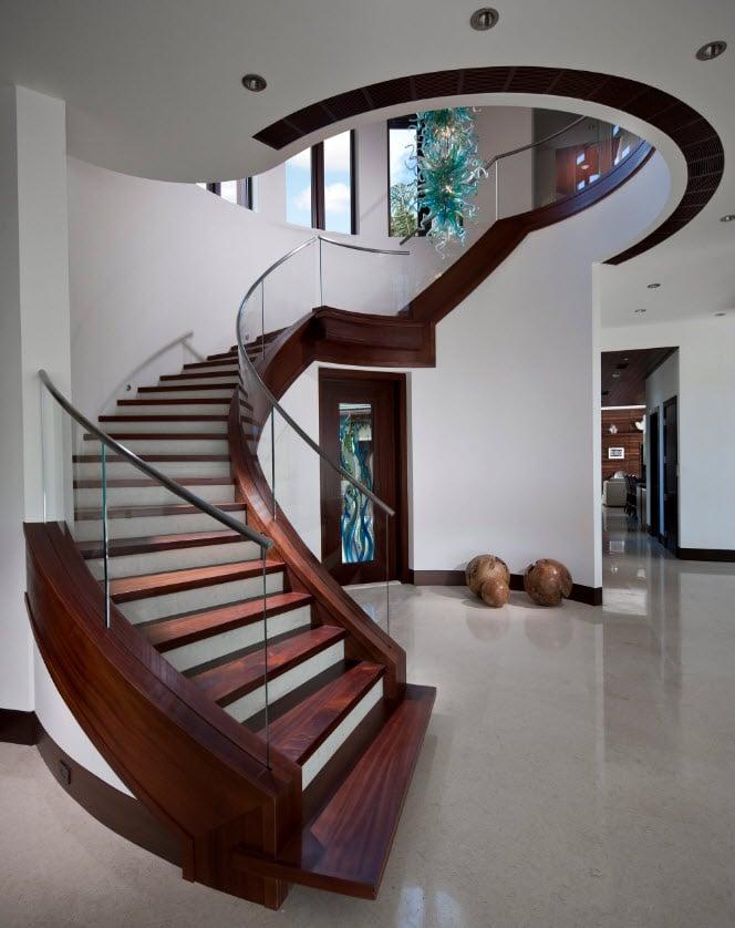 Dise os de escaleras formas y estilos con fotos construye hogar - Escaleras de cristal y madera ...