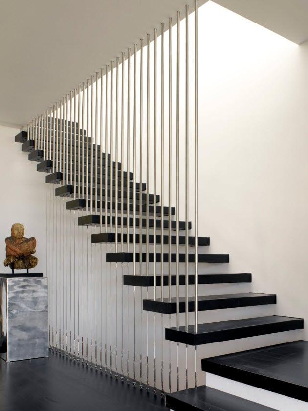 Dise os de escaleras formas y estilos fotos construye for Escaleras de interior baratas