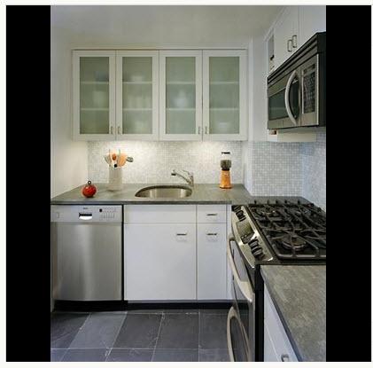 Dise o de cocina peque a con ideas y fotos construye hogar for Cocina y lavadero integrados