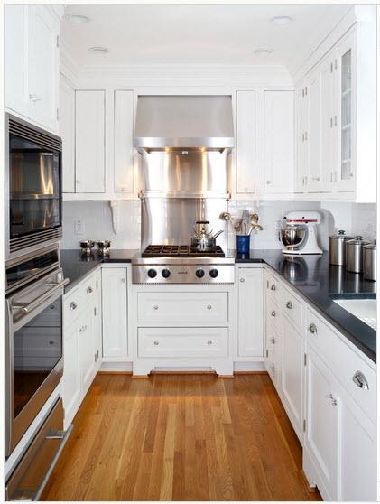 diseo de cocina en color blanco - Cocinas Pequeas De Diseo