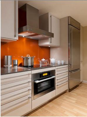 Diseño de cocina moderna en pequeño espacio
