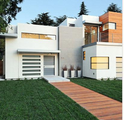 Fachadas de casas modernas todo para dise ar una hermosa for Casa moderna blanca