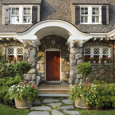 Fachadas de casas r sticas dise os y materiales - Entradas de casas rusticas ...