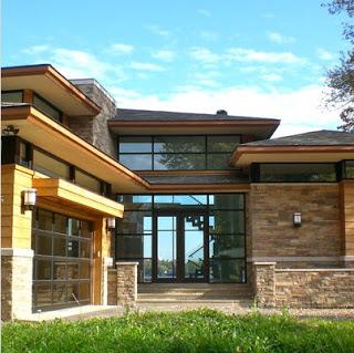 Fachada de una casa estilo oriental